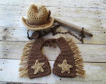 Cowboy Chaps and Hat Set