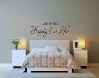 Master Bedroom Vinyl Wall Art always kiss me goodnight and good morning too vinyl wall decal