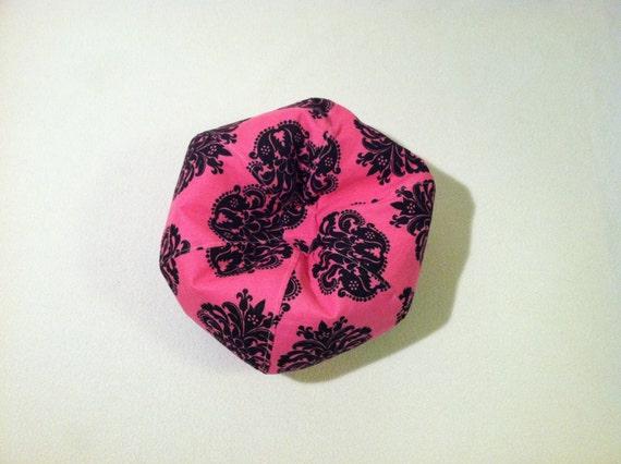 Bean Bag Chair Refill Beads 18 pink/black floral doll bean bag chair by PreciousEmbrace
