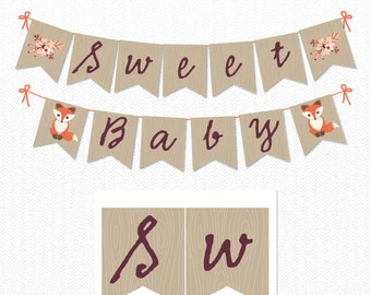 Twin baby banner | Etsy