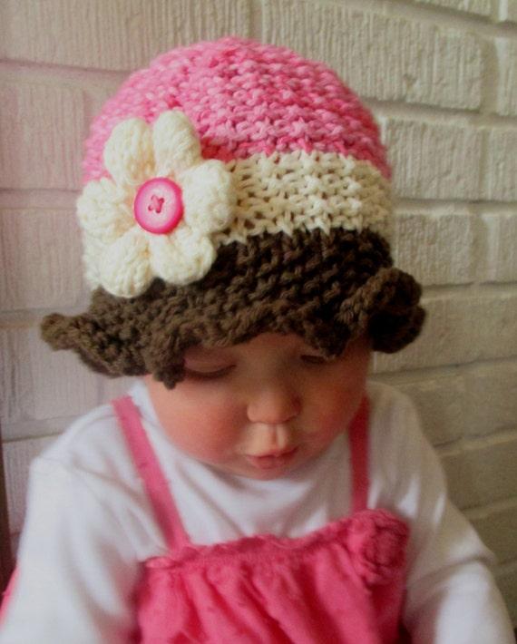 Knitting Pattern Baby Sun Hat : Baby Sun Hat Pattern KNITTING PATTERN pdf Baby Sun Hat