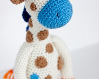 Crochet Giraffe Amigurumi Toy (Jack) - Made to Order