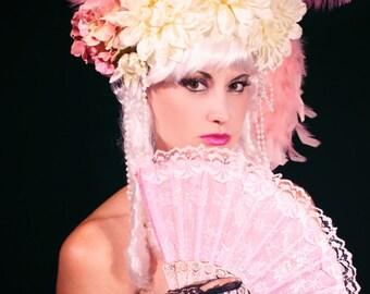 Marie Antoinette Wig / Rococo Style Wig /  Saloon Girl Wig / Powdered Wig / Can Can Girl Wig/ Baroque Wig/ Princess Wig/ Cosplay/ Burlesque