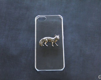 Fox iPhone 5 Case Coyote iPhone 6 Case  Animal Phone Cover Simple iPhone6 Plus Cover Clear  Case Transparent Cover Animal