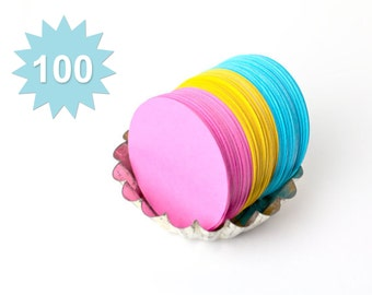100 2.5 Inch Die Cut  Circles - Your Choice Of Color(s)