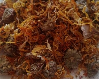 Organic Dried Calendula Flowers 1 oz.
