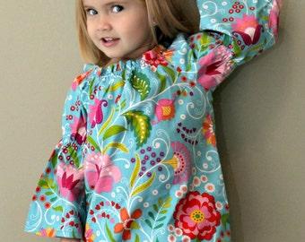 Ella Peasant Top Dress sizes NB to - 12 years PDF Pattern