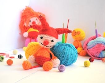 Crochet Amigurumi Clown - Crochet Clown - Clown Doll - Crochet Clown - Amigurumi Clown - Crochet Clown - Soft toy