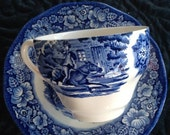 Liberty Blue Staffordshire Cup and Saucer VL Team