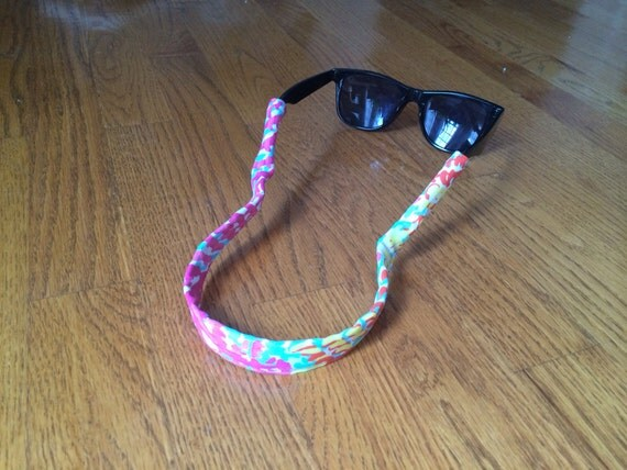 Lilly Pulitzer Croakies Sunglasses Straps Wide Frame Sunnies