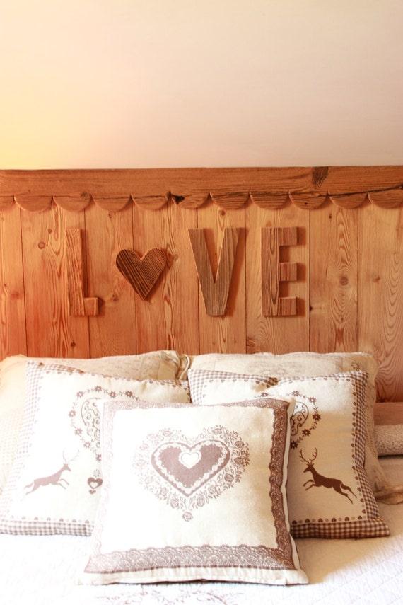 Pareti In Legno Vecchio : Scritta love decorativa da parete in legno ...