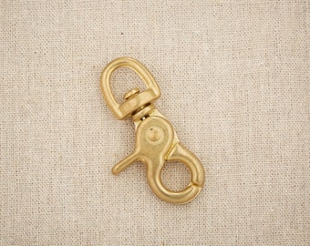 Brass  Snap Hook // 65mm Swivel Clasp // for Key Ring Chain //Solid Brass Clasp