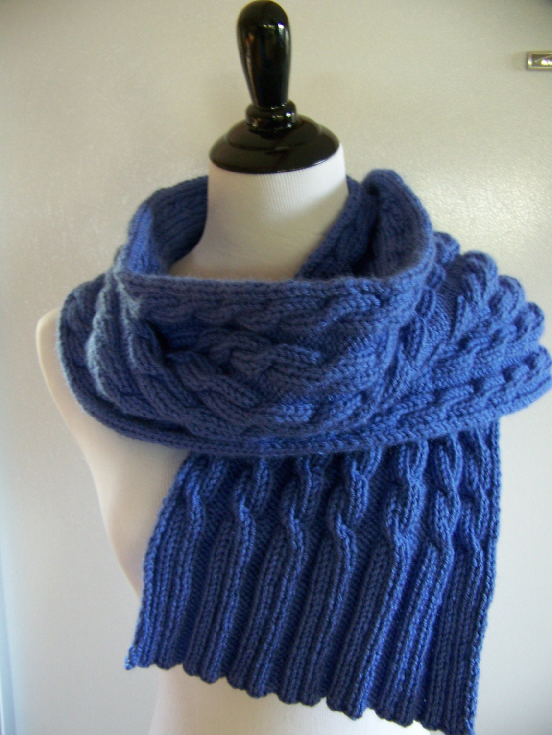 Cable Knit Scarves Patterns : cable knit scarf pattern blue Cable Scarf cable knit
