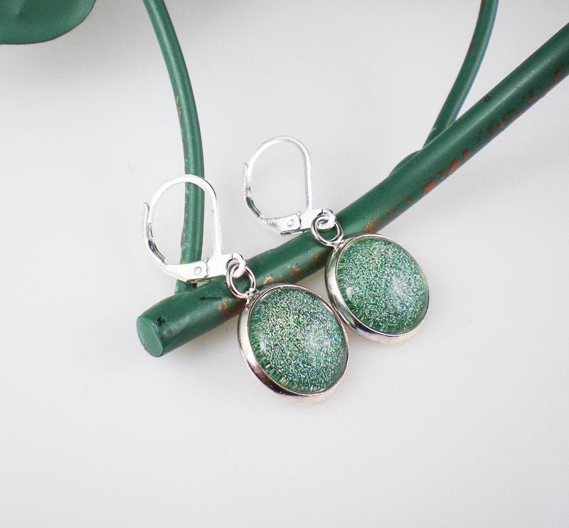 Glittery Sea Green Nail Polish Earrings Jewelry Orly Sparkling