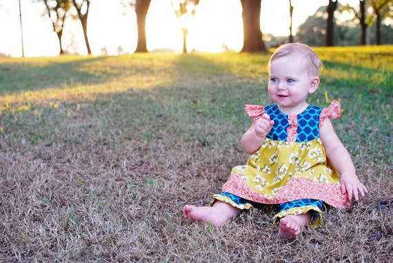 Baby Sewing Pattern with Flutter Sleeve - How to Sew the Baby Butterfly Top PDF Sewing pattern