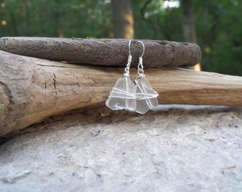 Sea glass earrings - French souvenir - unique gifts for women - 40th birthday gifts for women