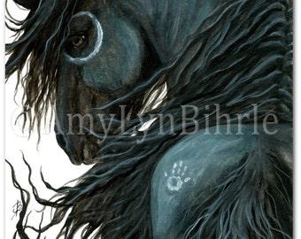 Majestic Horse - DreamWalker Friesian- ArT Prints by Bihrle mm107