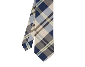 Christopher - Navy Plaid Men's Tie