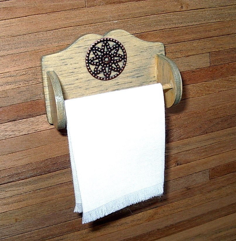 Kitchen Towel Bar Rustic Dollhouse Miniature 1/12 Scale