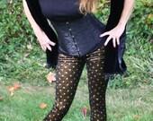 Ladies Glitter Star Velvet Leggings - pick your size