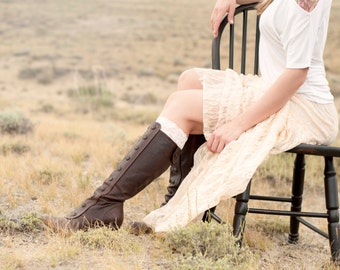 White Lace Boot Cuffs, Boot Cuff Topper, Women Faux Leg Warmers, Faux Knee High Socks, Womens Gift for Her, Bridal Wedding Boho Accessory