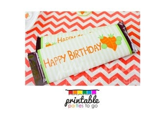 INSTANT DOWNLOAD Printable Peas and Carrots Candy Bar Wraps  - Please Read Description Thoroughly - Printable Parties to Go