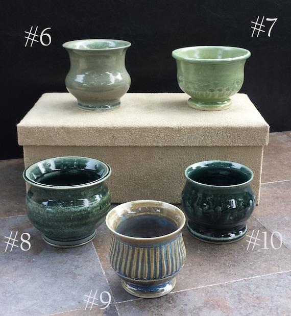 ceramic pots mini petite succulent cactus by susanohanlonpottery. Black Bedroom Furniture Sets. Home Design Ideas
