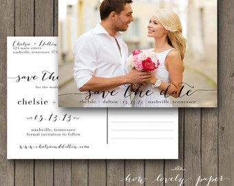 Printable Save the Date Postcard - the Chloe Collection