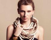 Black And Gold Statement Bracelet, Large Bracelet, Bangle Bracelet,  Black Silicone And Gold Links