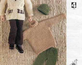 Dolls clothes knitting patterns Etsy UK