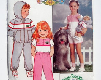 Cabbage Patch Doll Pattern Kids Children's Clothes Jacket Pants Top Shorts Iron On Decals Butterick 6589 Size 6X