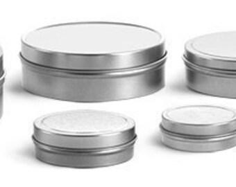 2 oz. Shallow Metal Tins with Lids, Set of 6