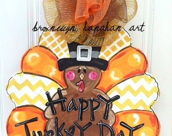 Fun Fall Turkey Door Hanger - Bronwyn Hanahan Art