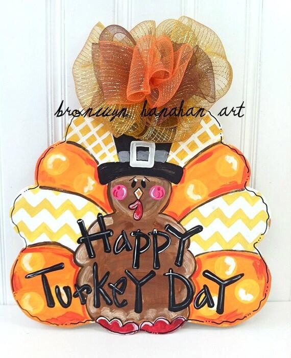 Fun Fall Turkey Door Hanger Bronwyn Hanahan Art