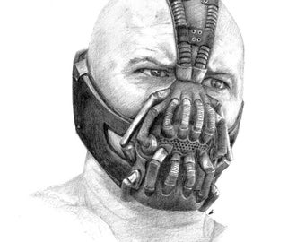 Items similar to Bane pencil drawing PRINT on Etsy