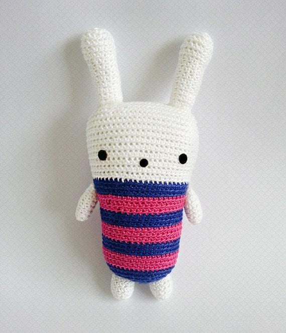 Crochet Doll Scarf Pattern Free : Amigurumi Crochet Pattern Crochet Rabbit Pattern by krokrolamb