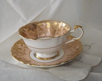 English bone china by Paragon teacup and saucer.