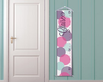 Large Polka Dot Personalized Children's Growth Chart