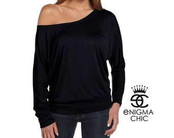 Off Shoulder Dolman Long Sleeve, Gift for Her by Enigma Chic