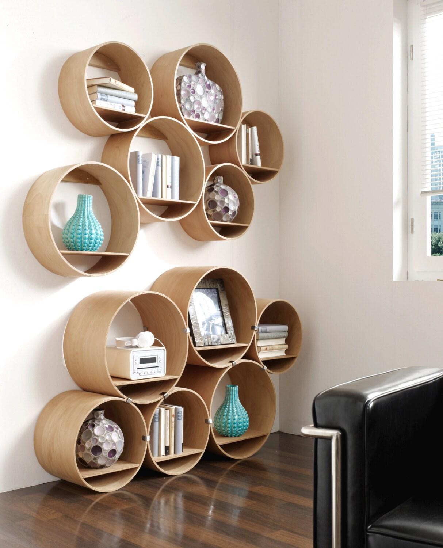 wandregal set schmal 3x gro 3x klein mit wandhalter und. Black Bedroom Furniture Sets. Home Design Ideas