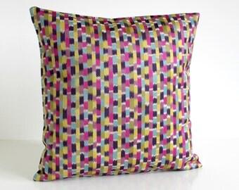 Ikat Pillow Cover, Sofa Pillow, Heavyweight Pillowcase, Throw Pillow cover, Ikat Cushion Cover, Ikat Pillow Sham - Breakout Zest