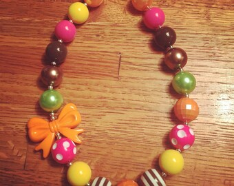 Thanksgiving Bubblegum Necklace