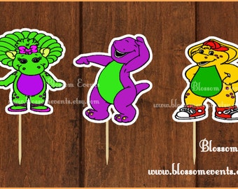 Barney and friends Cupcake Toppers (12)