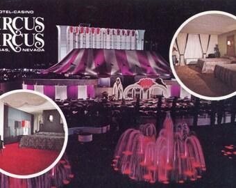 Las Vegas - Vintage Postcard - Circus Circus Casino Hotel