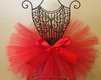 Red Tutu, Valentines Tutu, Baby Tutu, Infant Tutu, Toddler Tutu, Newborn Tutu, Holiday Tutu, Photo Prop, Birthday Tutu, Valentines Outfit
