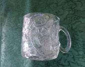 Collectors McDonalds 1995 DC Comics Batman Forever~THE RIDDLER~Clear Glass Mug, home decor, batman collection