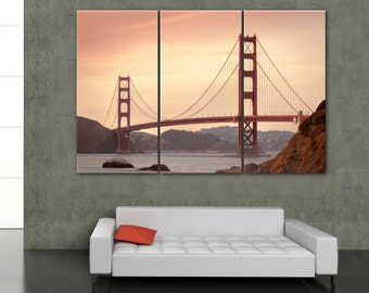 Golden Gate Bridge on Canvas - San Francisco Canvas Art - San Francisco wall art, large art, wall decor canvas art, large canvas art, poster