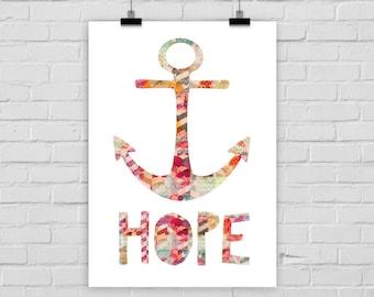 fine-art print poster HOPE anchor