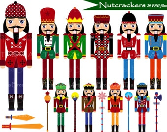Nutcrackers Clipart - Digital Clip Art- Personal /Commercial Use (100)