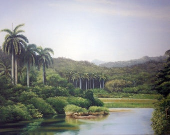 painting to the oil landscape